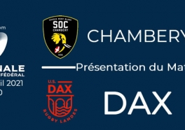NATIONAL - 2020/2021 J6 Report : Chambéry - Dax : Présentation du match