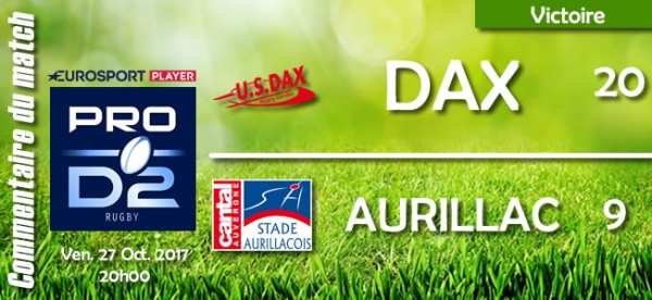 2017-2018 J10 : Dax - Aurillac : Commentaire du match