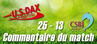 Dax - Bourgoin : Commentaire du match