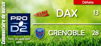 2017-2018 J1 : Dax - Grenoble : Commentaire du match