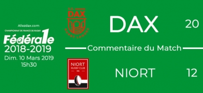 FED1 - 2018/2019 - J19 : DAX - NIORT : Commentaire du match